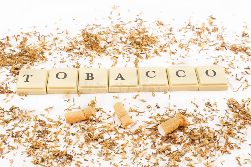 tobak och cigaretter royaltyfri fotografi