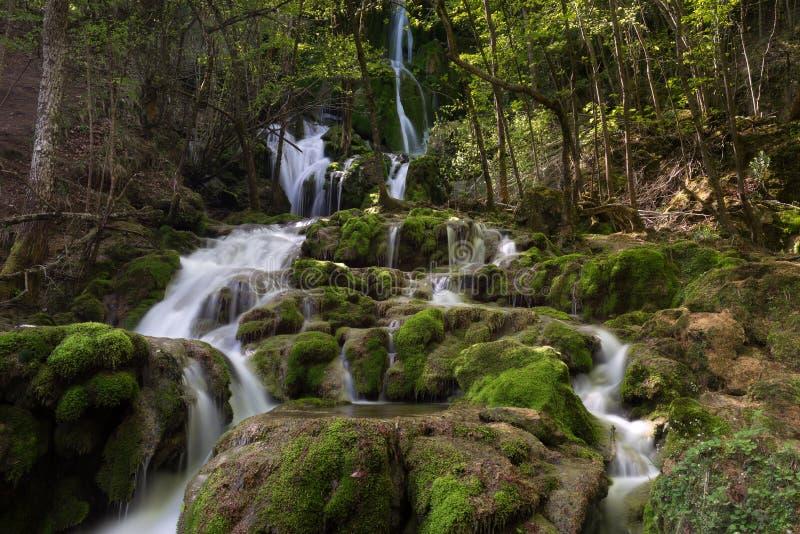 Toberiawatervallen bij Baskisch Land, Spanje royalty-vrije stock afbeelding