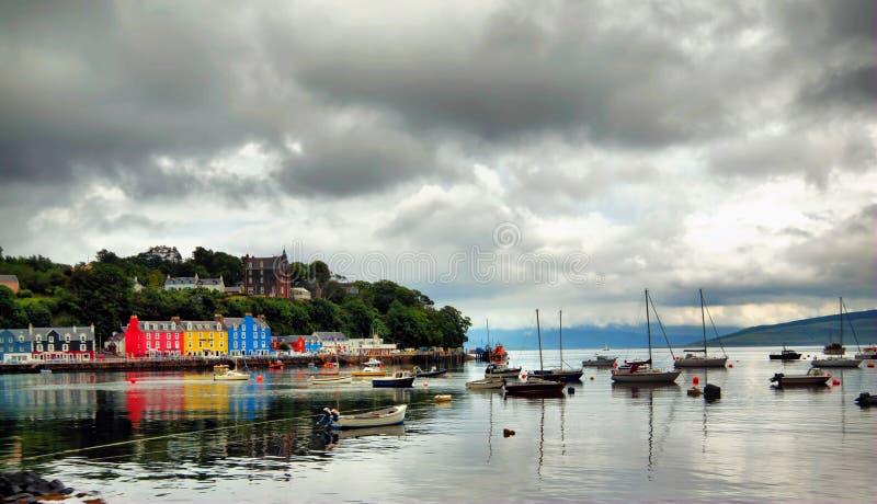 Isle of Mull. Tobermory sea at Isle of mull Scotland royalty free stock images