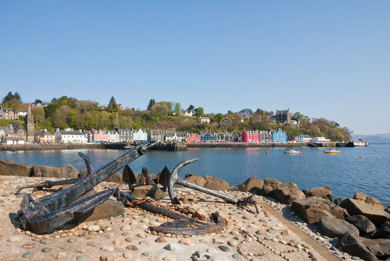 Download Tobermory Anchors (Mull) stock photo. Image of shore, anchor - 9141562
