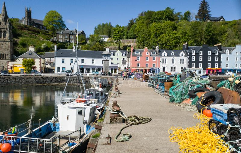 Tobermory on the Isle of Mull royalty free stock photography