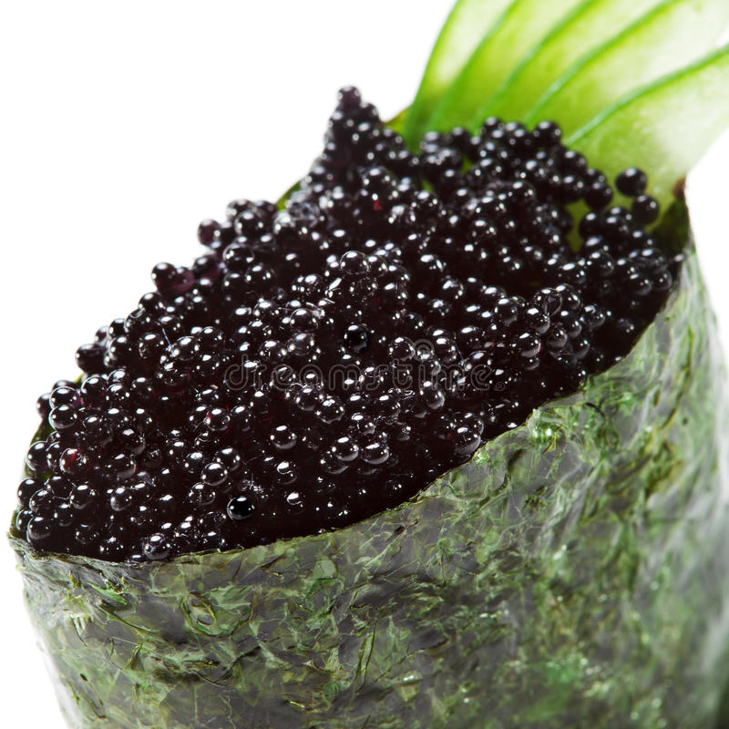 Download Tobiko Sushi stock photo. Image of isolated, japanese - 13883486