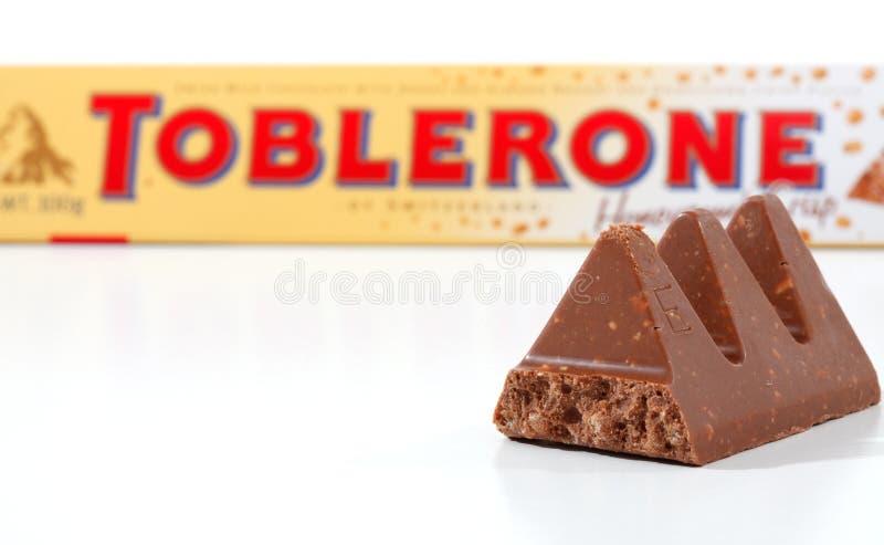 Toblerone chocolate bar royalty free stock photography