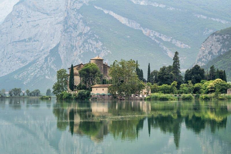 Toblino Castle and Lake royalty free stock photos