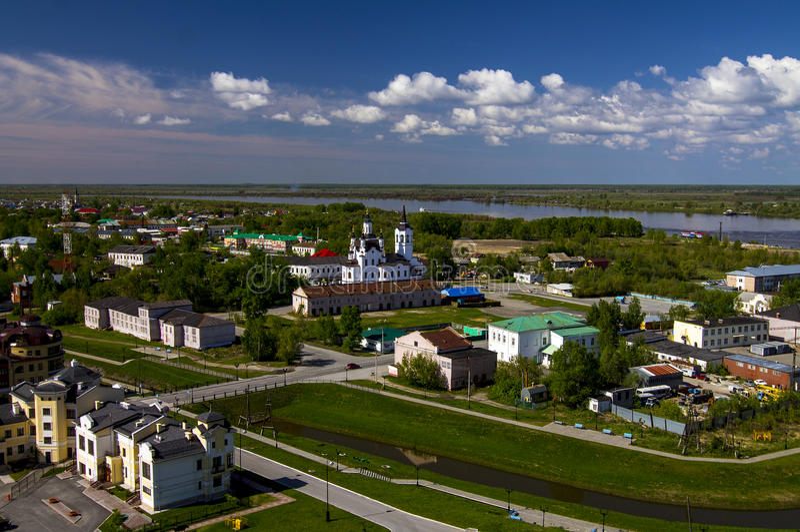 Tobolsk,西伯利亚,俄罗斯 Th的低部 免版税库存图片