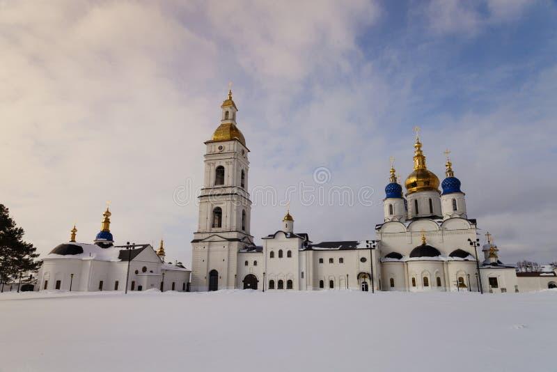 Tobolsk är en stad i Ryssland kremlin tobolsk royaltyfria foton