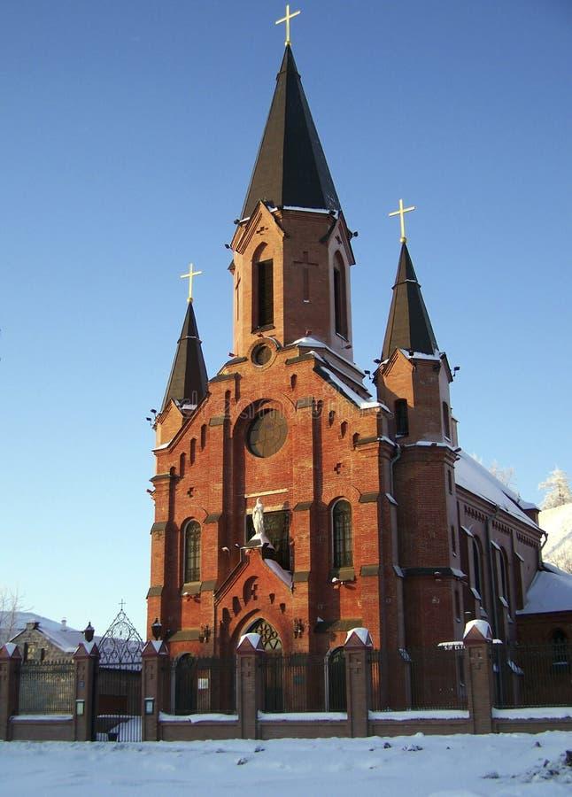 Tobolsk. Catedral católica fotografía de archivo
