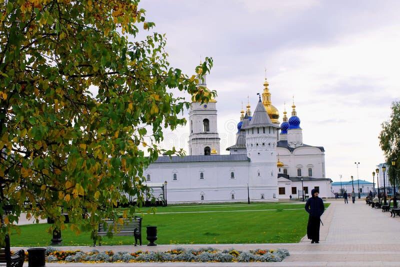 Tobolsk der Kreml in Sibirien stockfotografie