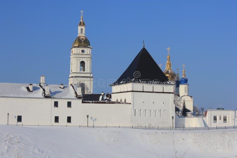 Tobolsk der Kreml, Tobolsk, Sibirien, Russland lizenzfreies stockfoto