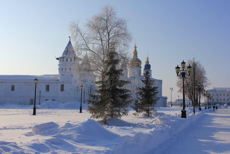 Tobolsk der Kreml, Tobolsk, Sibirien, Russland lizenzfreies stockbild