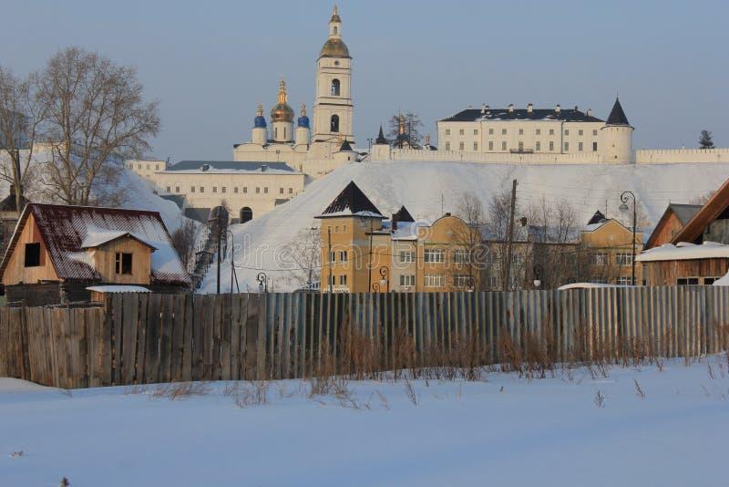 Tobolsk der Kreml, Tobolsk, Sibirien, Russland stockfoto