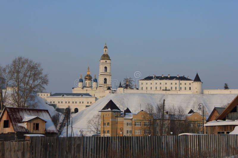 Tobolsk der Kreml, Tobolsk, Sibirien, Russland Sehen Sie den unteren Stadtteil an stockfotos