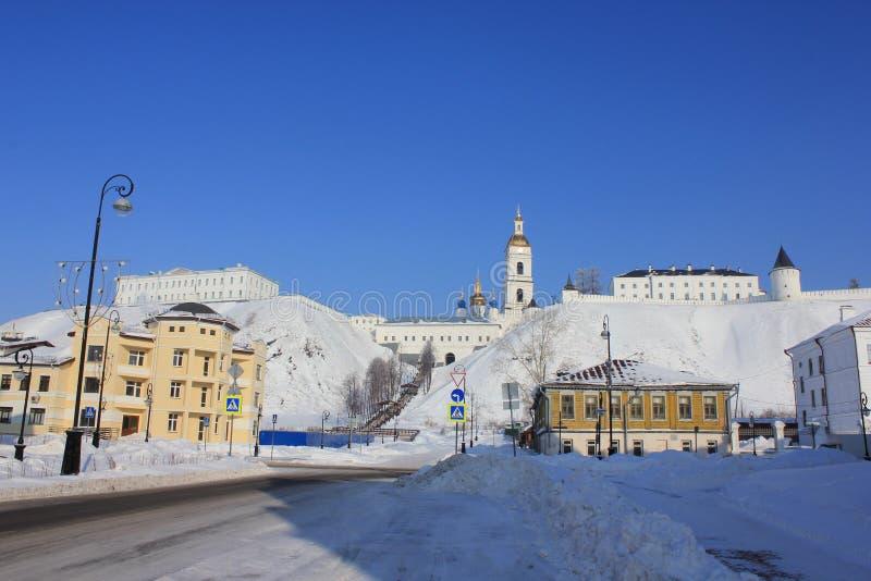Tobolsk het Kremlin, Tobolsk, Siberië, Rusland royalty-vrije stock afbeeldingen