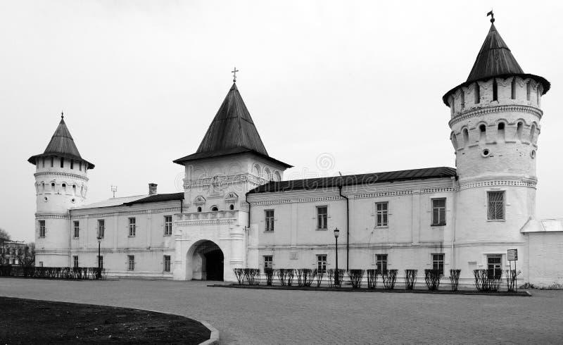 Tobolsk. La zona rossa del Tobolsk Kremlin fotografie stock libere da diritti