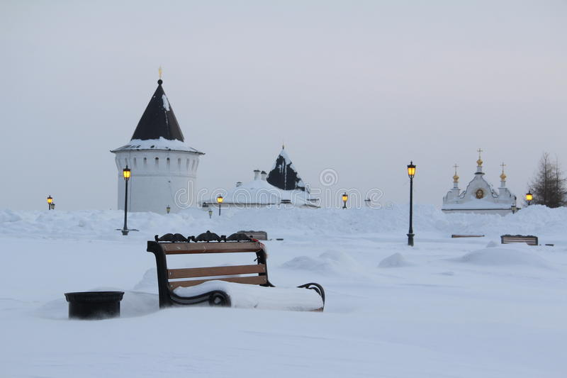Tobolsk, Rusland stock foto