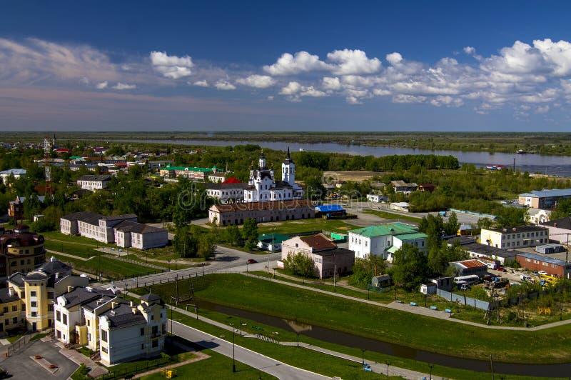 Tobolsk, Sibérie, Russie La partie plus inférieure de Th images libres de droits
