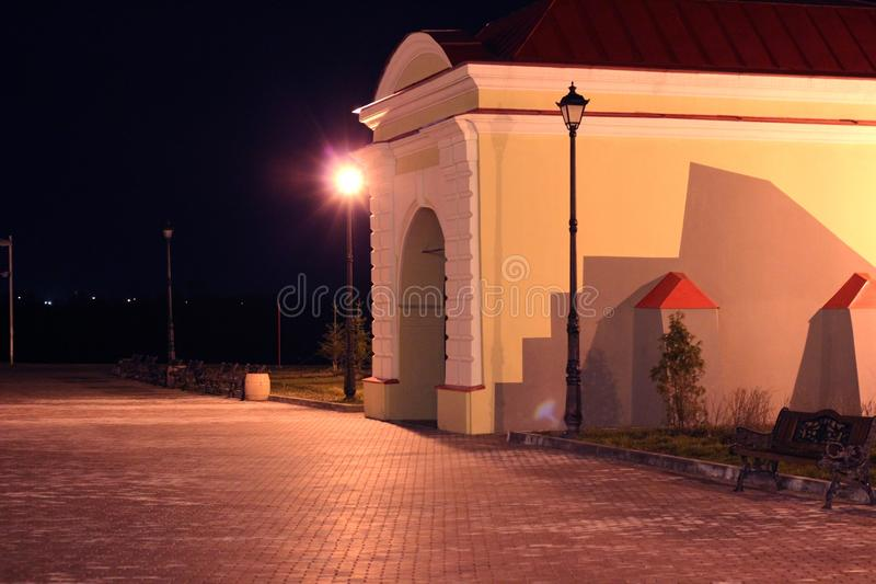 Tobolsk-Tor in Omsk, Sibirien stockfotografie