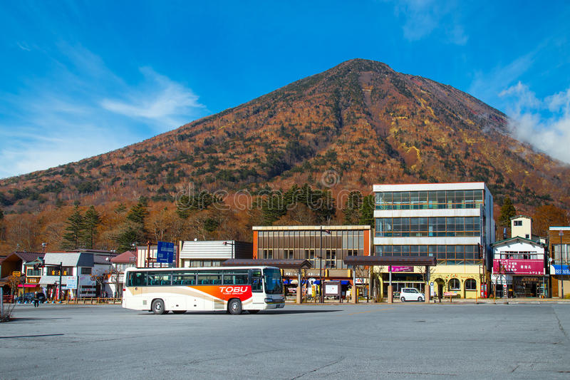 Tobu buss i Nikko, Japan royaltyfri bild