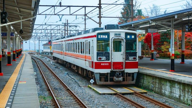 Tobu Nikko linje royaltyfria foton