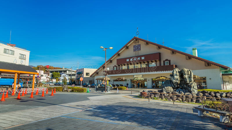 Tobu- Nikko station arkivbild