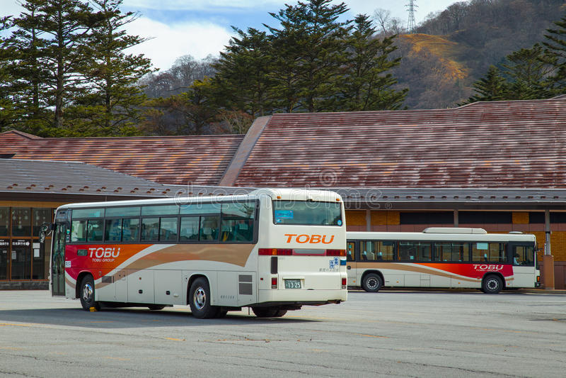 Tobubus in Nikko, Japan stock foto's