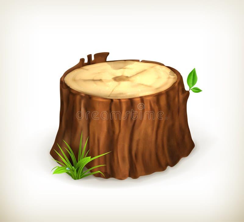 Tocón de árbol ilustración del vector