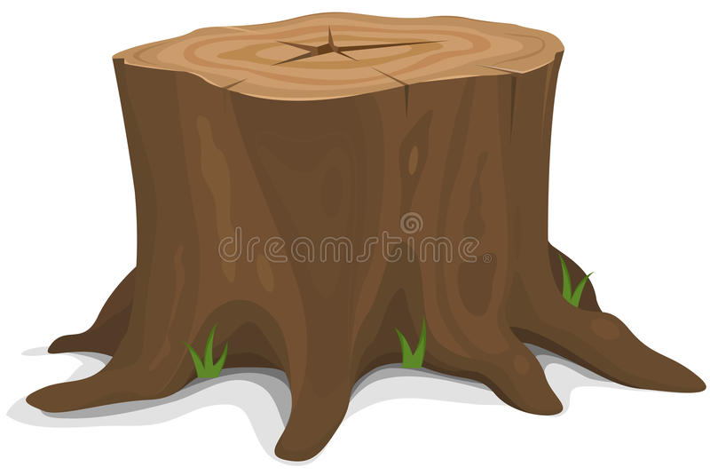 Tocón de árbol stock de ilustración