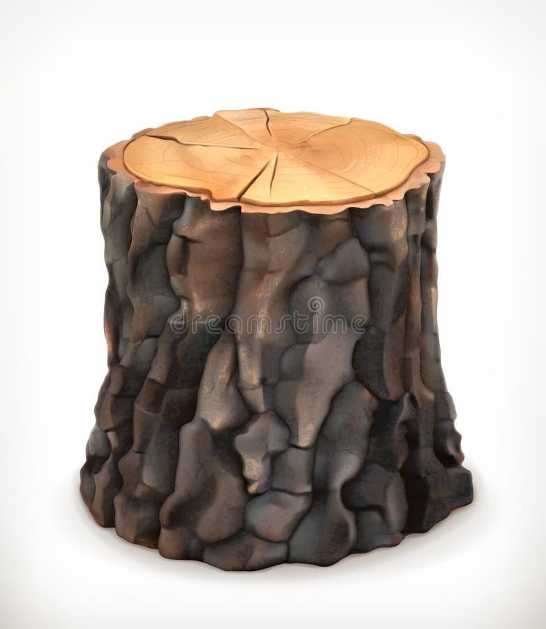 Tocón de árbol, icono del vector libre illustration