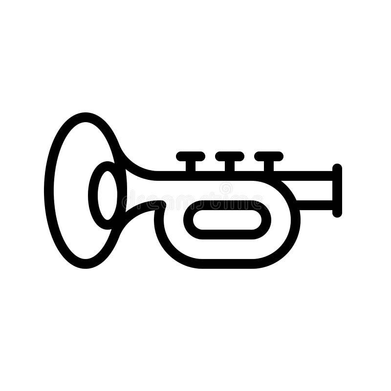 Toca la trompeta el vector, banquete de la línea icono de St Patrick libre illustration