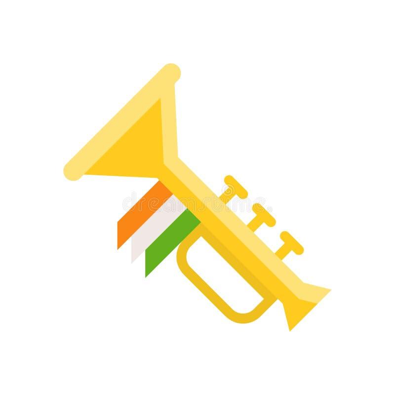 Toca la trompeta el vector, banquete del icono plano de St Patrick libre illustration