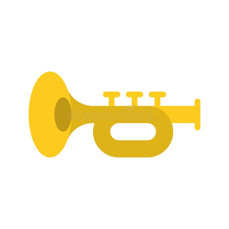 Toca la trompeta el vector, banquete del icono plano de St Patrick stock de ilustración