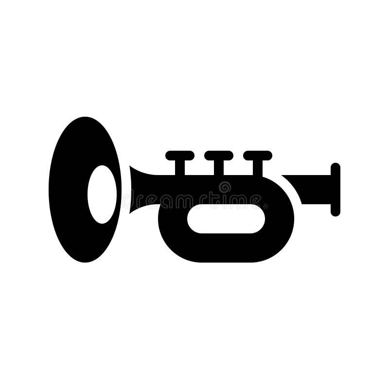 Toca la trompeta el vector, banquete del icono sólido de St Patrick libre illustration