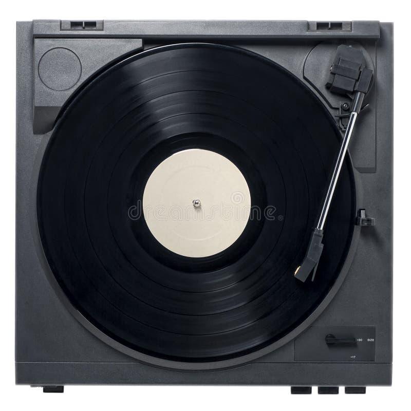 Tocadiscos con el disco de vinilo fotografía de archivo