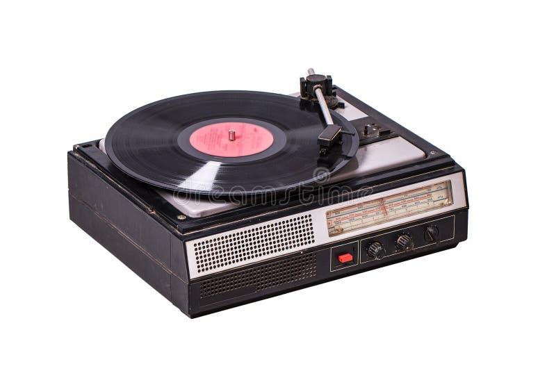 Tocadiscos del vintage con el sintonizador de radio fotos de archivo libres de regalías