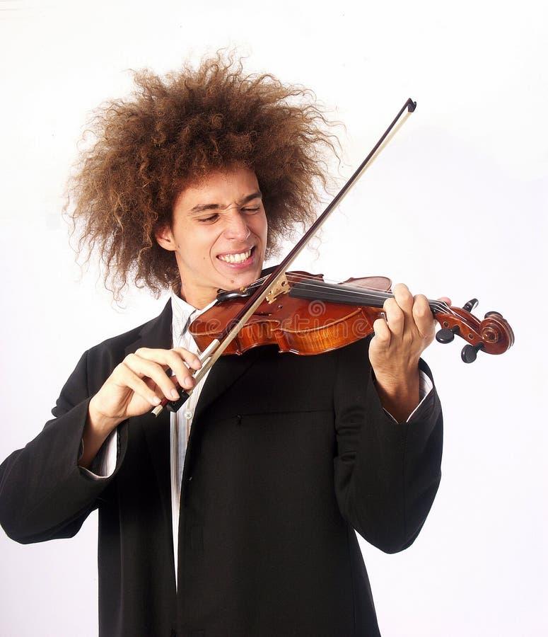 Tocar el violín imagen de archivo libre de regalías