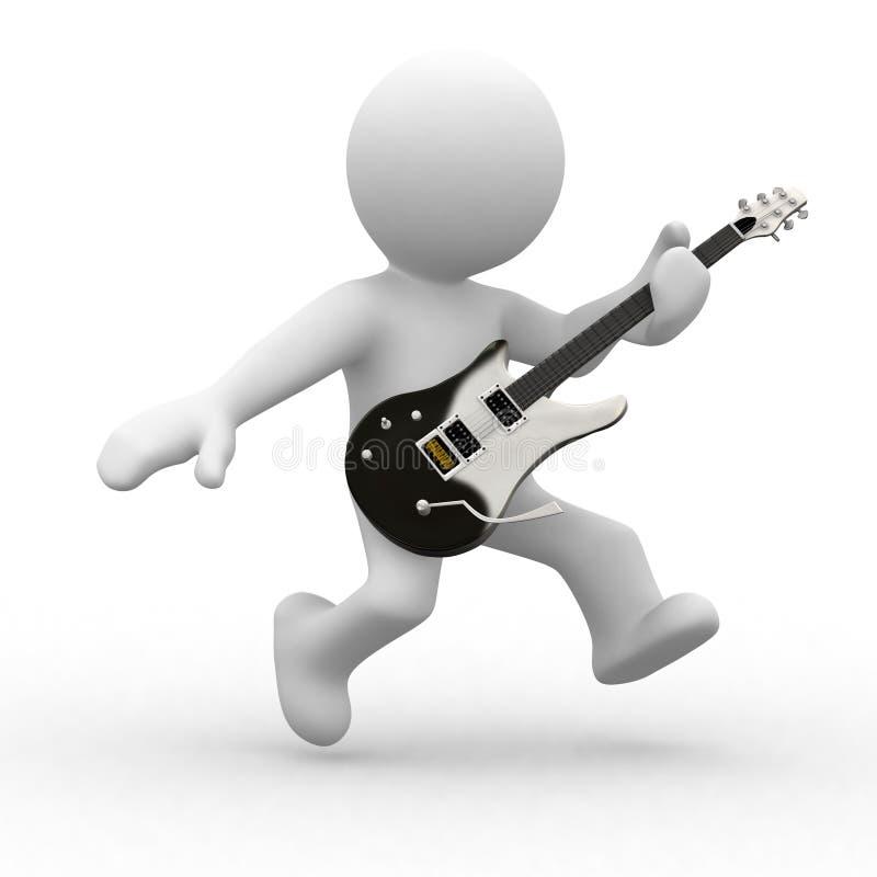 Tocar la guitarra stock de ilustración