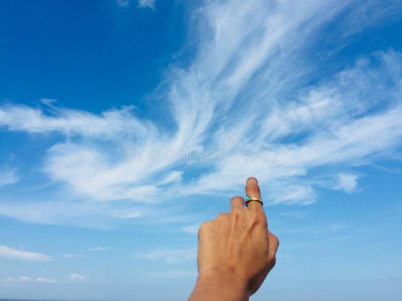 Tocchi il cielo fotografie stock libere da diritti