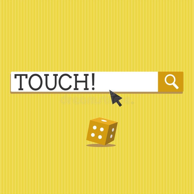 Tocco di rappresentazione del segno del testo Maniglia concettuale della foto per interferire con per alterare il contatto di inf illustrazione di stock