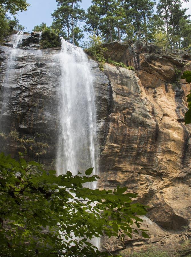 Toccoa baja cascada, Stephens County, Georgia, los E.E.U.U. imágenes de archivo libres de regalías