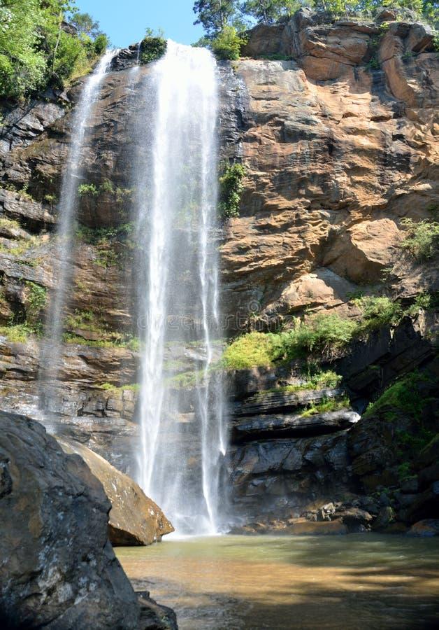 Toccoa Falls. Waterfall at , Georgia, USA royalty free stock photography