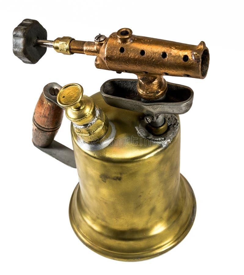 Tocha de sopro de bronze antiquado imagens de stock royalty free