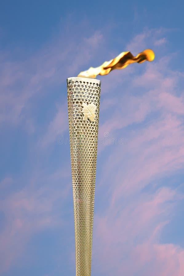 Tocha olímpica imagem de stock royalty free