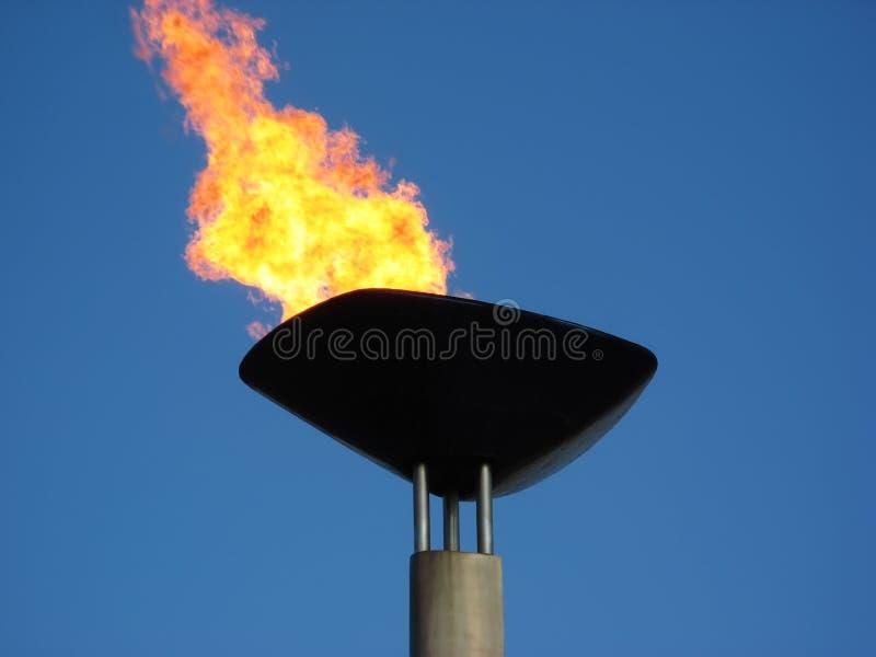 Tocha olímpica imagem de stock