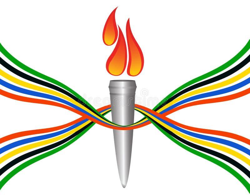 Tocha olímpica ilustração do vetor