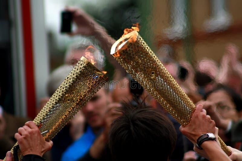 Tocha olímpica fotos de stock royalty free