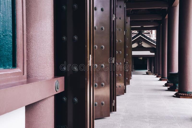 Tochoji寺庙,日本老建筑学在福冈,日本 库存照片