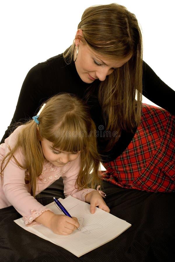 Tochter und Mutter stockfoto