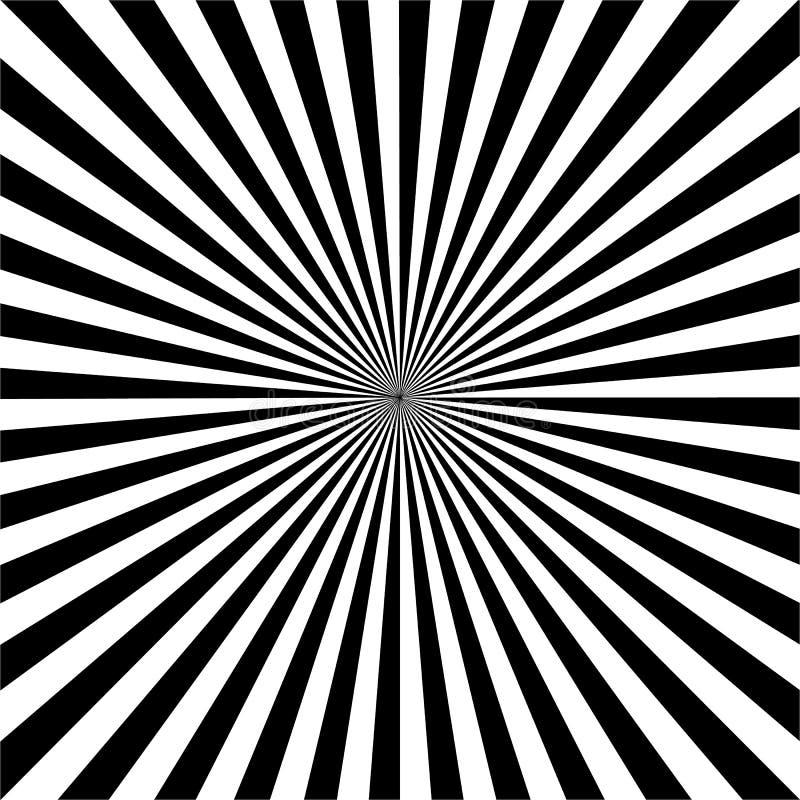 Tock Vectorillustratie: Zonstralen, Oud document - Vector vector illustratie