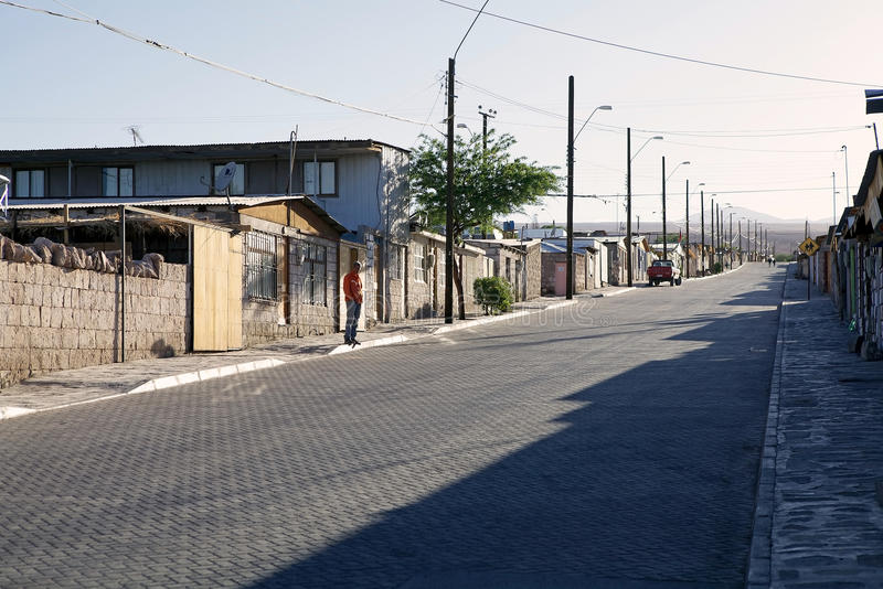 Toconao村庄,智利 免版税库存图片