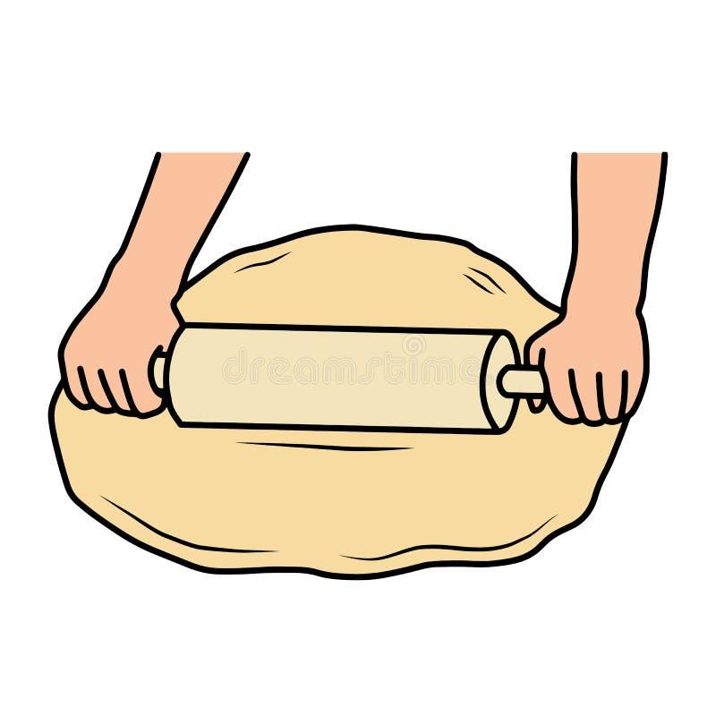 Toczny ciasto out ilustracja wektor